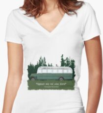 Into The Wild - Bus 142 Fitted V-Neck T-Shirt