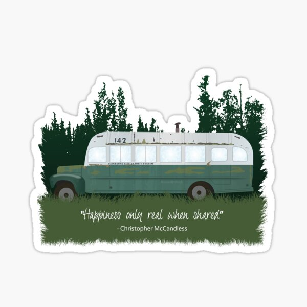 Into The Wild - Bus 142 Sticker