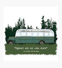 Into The Wild - Bus 142 Photographic Print