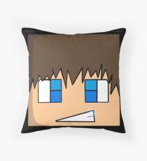 Minecraft head  Throw Pillow