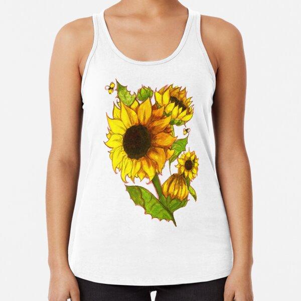 Sunflowers Racerback Tank Top