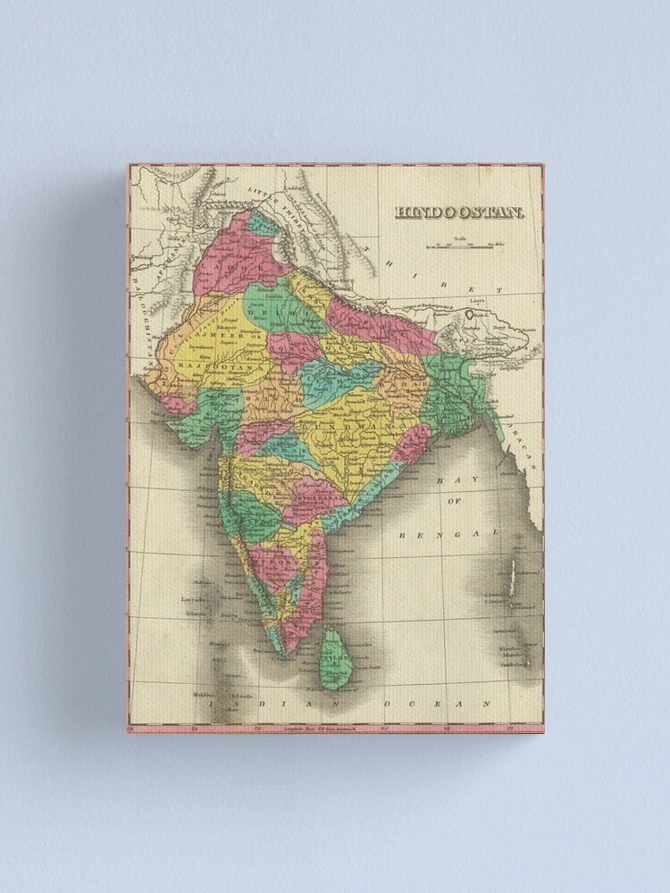 Alternate view of Vintage Map of India (1831) Canvas Print