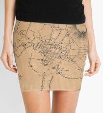 Vintage Map of Honolulu Hawaii (1887) Mini Skirt