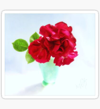 Red Red Roses Still Life Sticker