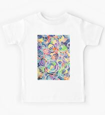 Easter Sunrise Swirls Twirling Eggs Colors Yellow Orange Green Turquoise Blue Purple Violet Shapes Abstract Kids Clothes