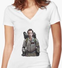 Ghostbusters - Peter Venkman (Bill Murray) Women's Fitted V-Neck T-Shirt