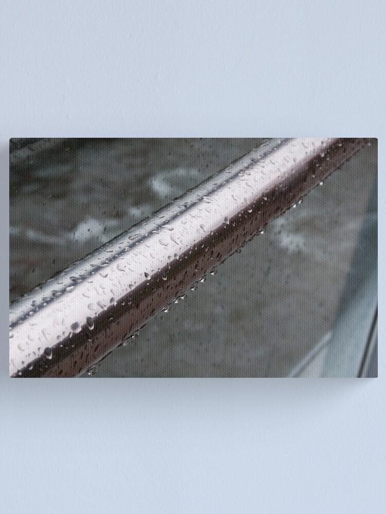 Alternate view of Raindrops on a Railing, Bolzano/Bozen, Italy Canvas Print