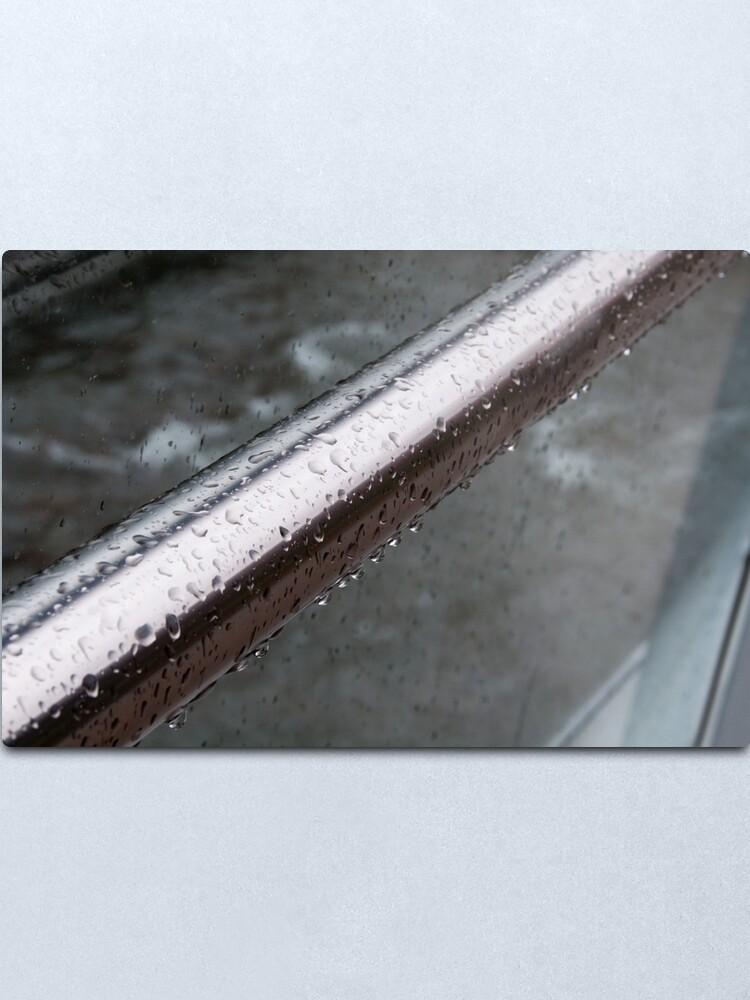 Alternate view of Raindrops on a Railing, Bolzano/Bozen, Italy Metal Print