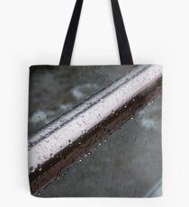 Raindrops on a Railing, Bolzano/Bozen, Italy Tote Bag