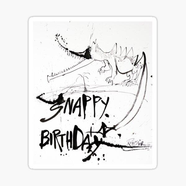 Snappy Birthday Sticker