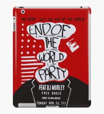 MR ROBOT: END OF THE WORLD PARTY iPad Case/Skin
