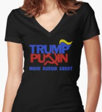 Trump Putin 2016 - Make Russia Great Again Women's Fitted V-Neck T-Shirt