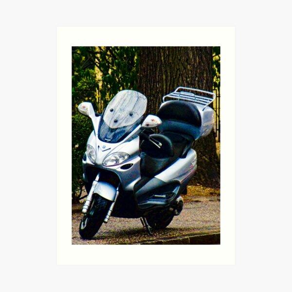 Face on a Moped, Bolzano/Bozen, Italy Art Print