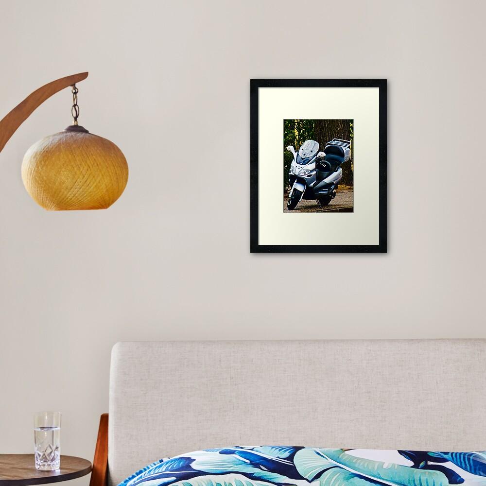 Face on a Moped, Bolzano/Bozen, Italy Framed Art Print