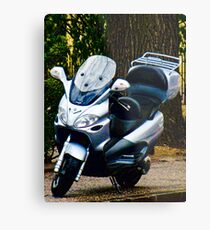 Face on a Moped, Bolzano/Bozen, Italy Metal Print