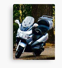 Face on a Moped, Bolzano/Bozen, Italy Canvas Print