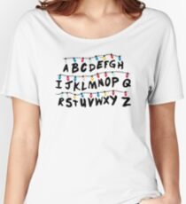 Stranger Things - Alphabet Wall Women's Relaxed Fit T-Shirt