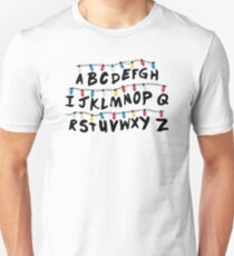 Stranger Things - Alphabet Wall T-Shirt