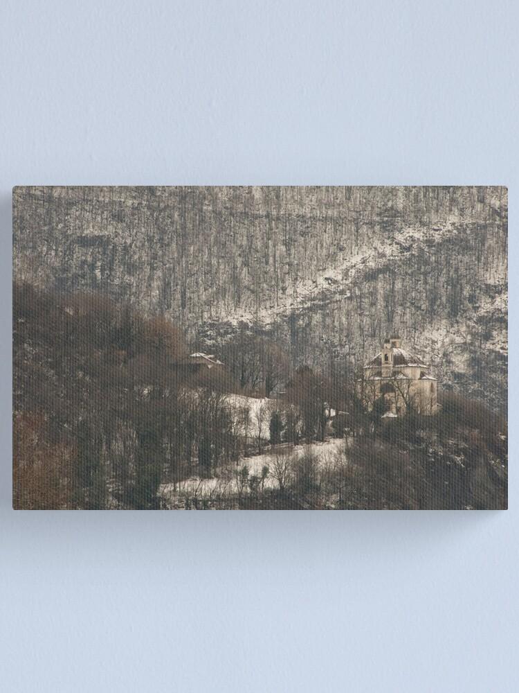 Alternate view of Snow scene, Bolzano/Bozen, Italy  Canvas Print