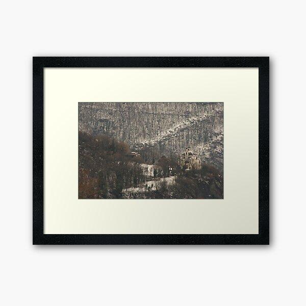Snow scene, Bolzano/Bozen, Italy  Framed Art Print