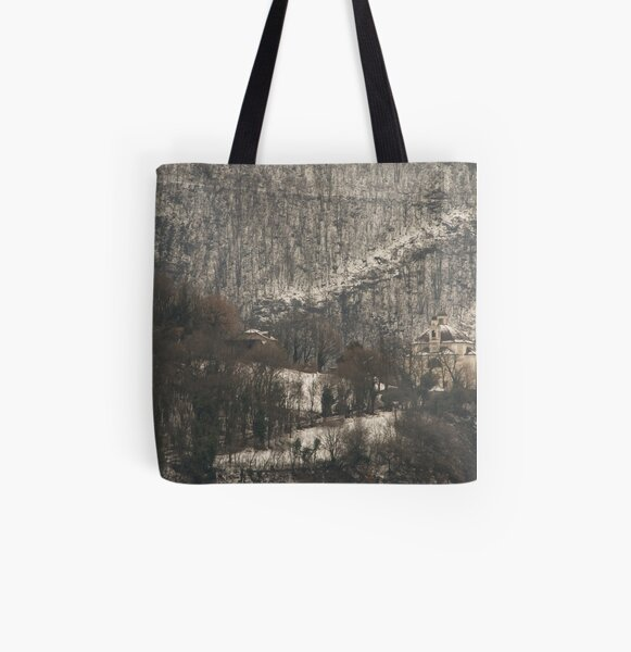Snow scene, Bolzano/Bozen, Italy  All Over Print Tote Bag