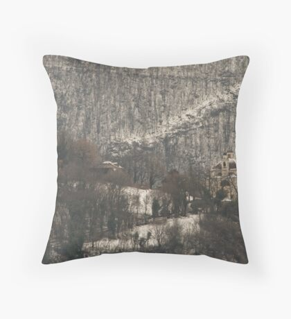 Snow scene, Bolzano/Bozen, Italy  Throw Pillow