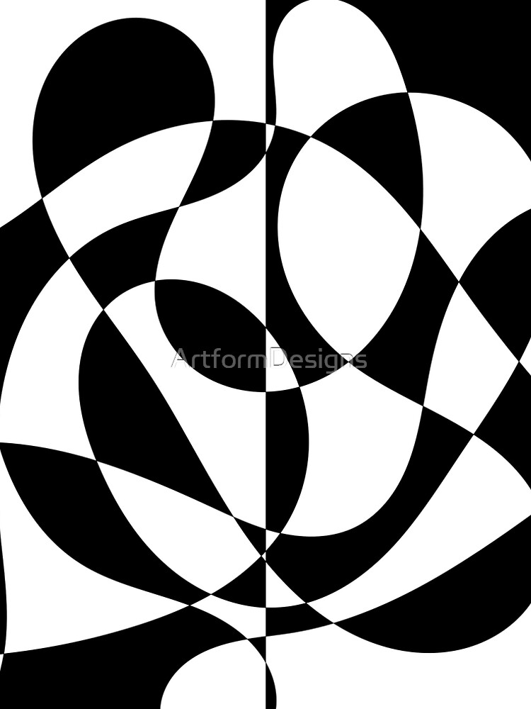 1960's Black and White Abstract by ArtformDesigns