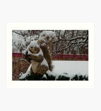 Snow covered animal figure, Christmas Market, Bolzano/Bozen, Italy Art Print