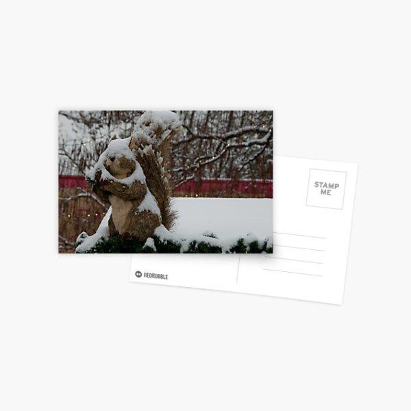 Snow covered animal figure, Christmas Market, Bolzano/Bozen, Italy Postcard