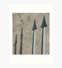 Pointed Shadows, Bolzano/Bozen, Italy Art Print