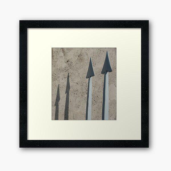 Pointed Shadows, Bolzano/Bozen, Italy Framed Art Print