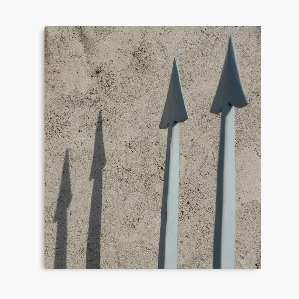 Pointed Shadows, Bolzano/Bozen, Italy Canvas Print