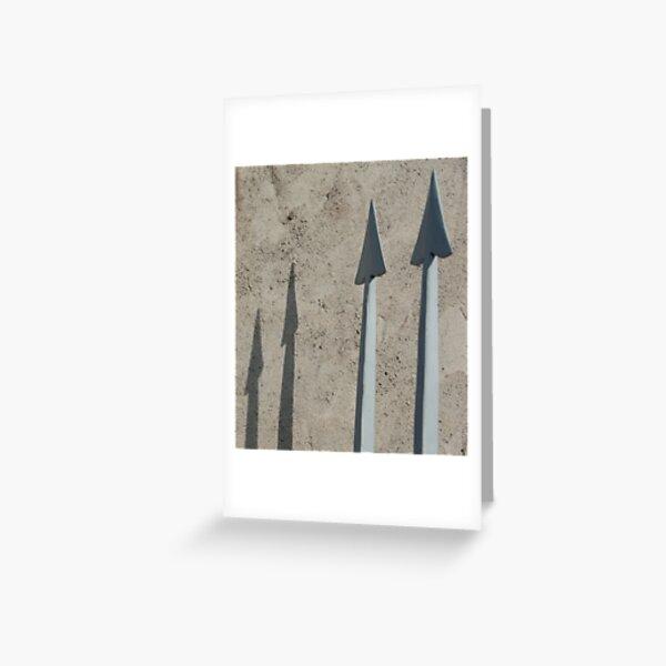 Pointed Shadows, Bolzano/Bozen, Italy Greeting Card