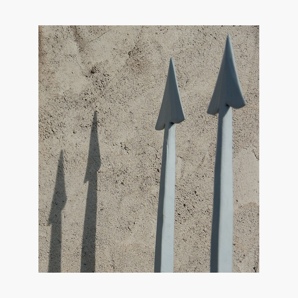 Pointed Shadows, Bolzano/Bozen, Italy Photographic Print