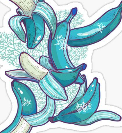 frozen bananas Sticker