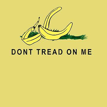 Vintage Banana Gadsen Flag Spoof by colorhouse