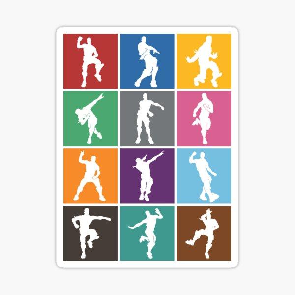 Battle Royale Victory Dance Rainbow lattice Funny Sticker