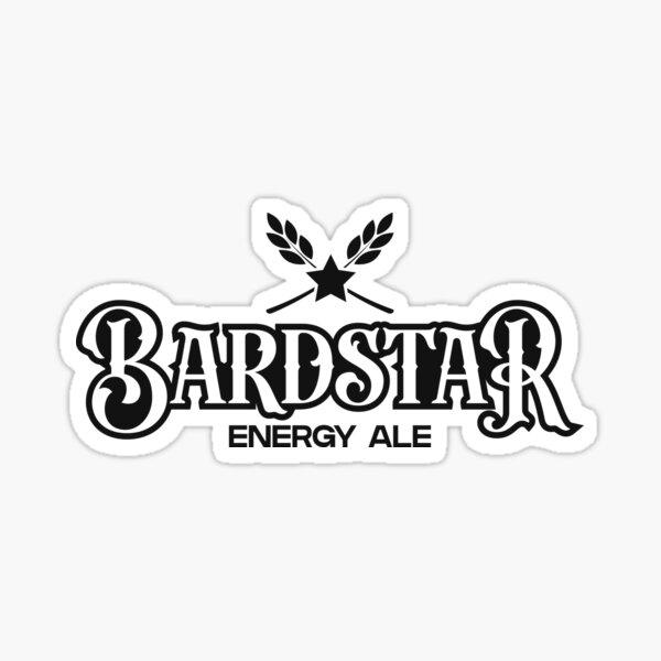 Bardstar (Black) Sticker