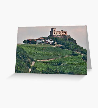 Schloss (Castle) Rafenstein ruins, Bolzano/Bozen, Italy Greeting Card