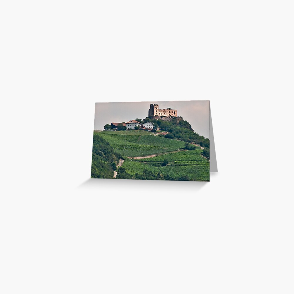 Schloss (Castle) Rafenstein ruins, Bolzano/Bozen, Italy Greeting Card