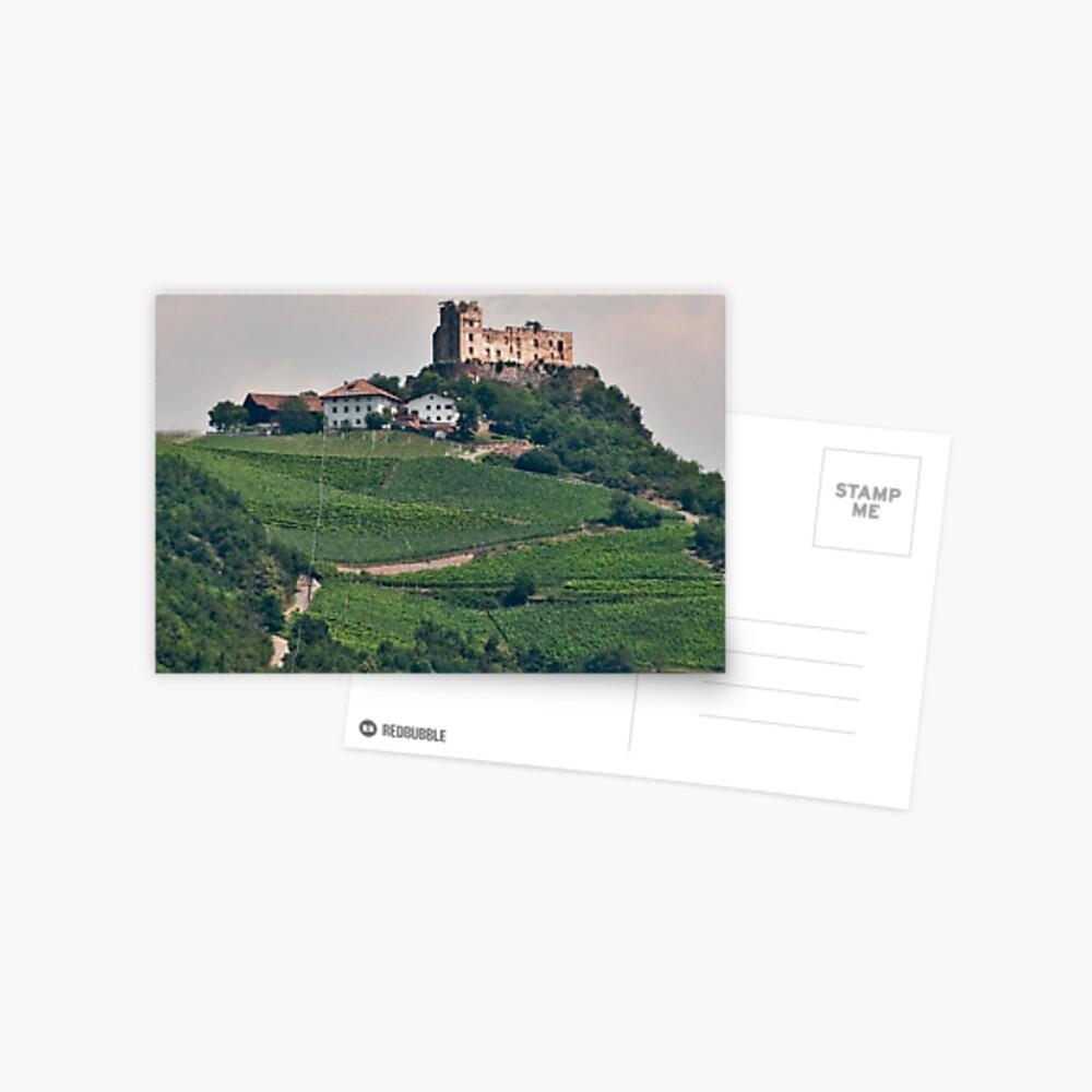 Schloss (Castle) Rafenstein ruins, Bolzano/Bozen, Italy Postcard