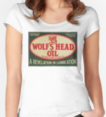 Vintage Motor Oil sign Women's Fitted Scoop T-Shirt