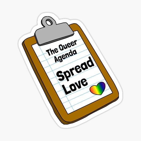 The Queer Agenda - Spread Love Sticker