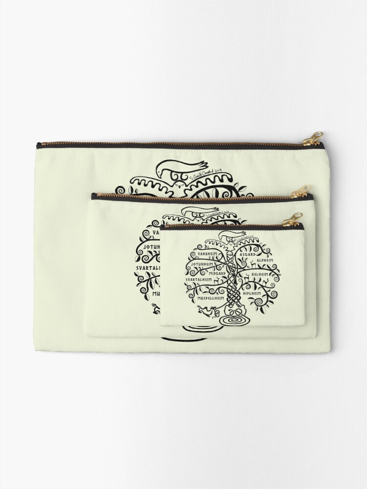Alternate view of The World Tree - Yggdrasil Zipper Pouch