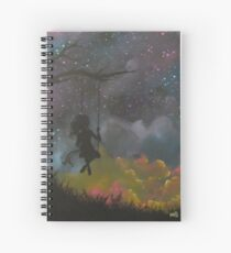 girl on swing  Spiral Notebook