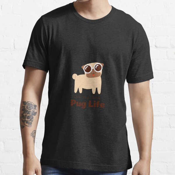 Brown Dog Illustrated Pets Lifestyle Essential T-Shirt