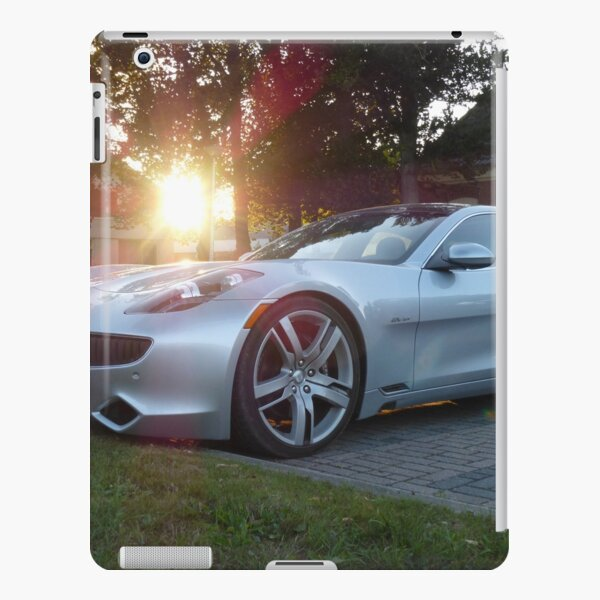 2012 Fisker Karma electric supercar against a sunset iPad Snap Case