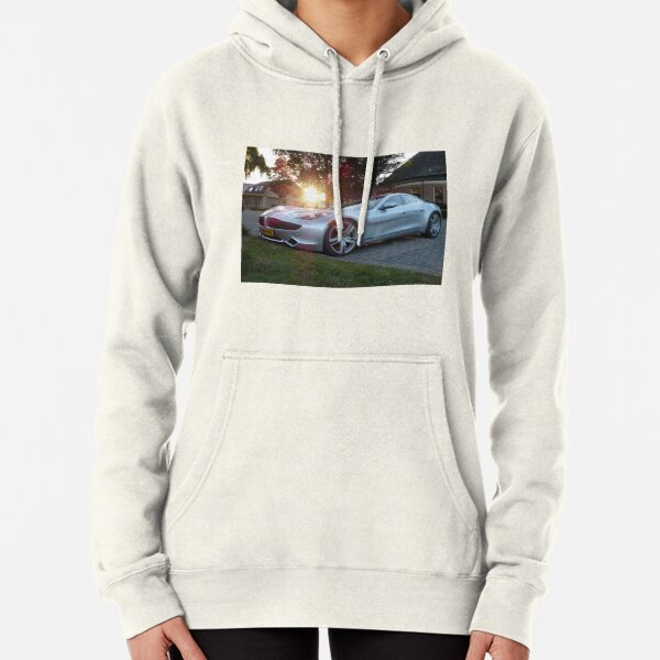 2012 Fisker Karma electric supercar against a sunset Pullover Hoodie