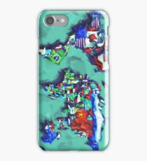 world map flags iPhone Case/Skin