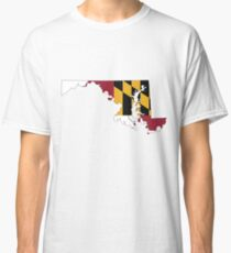Maryland Flag [Blk] | State Line | SteezeFSC Classic T-Shirt